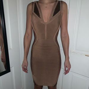 Guess Rose gold bandage dress from guess